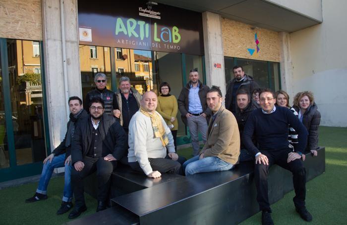 Carrara, Armellini e gli associati presenti ad ArtiLab