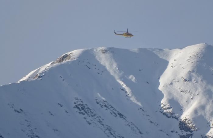 Le ricerche in elicottero