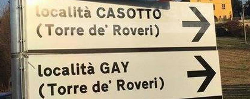 Benvenuti in «località Gay» Un errore? «No, si scrive così»