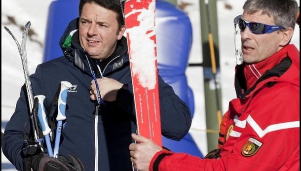 Renzi lascia Courmayeur a fine vacanza