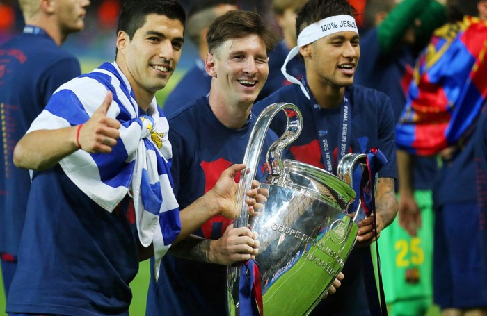 Messi con Suarez e Neymar