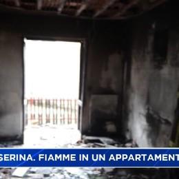 Costa Serina. Incendio distrugge appartamento, una donna intossicata
