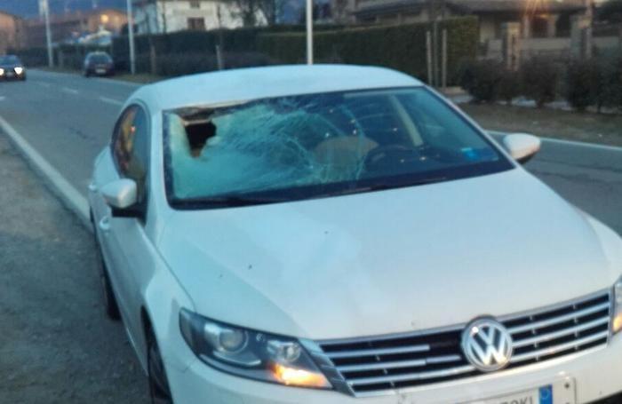 Incidente a Sotto il Monte, l'auto coinvolta