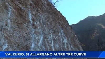 Strada di Valzurio, Oltressenda alta, altre tre curve allargate