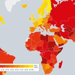 Corruzione, mappa mondiale online L'Italia è 61a con il Lesotho - Guarda