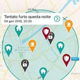 Arriva l'app per segnalare i furti  Con «Siqra» la sicurezza è social