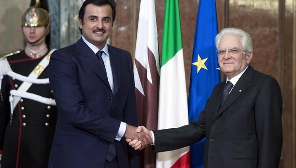 Mattarella riceve Emiro del Qatar