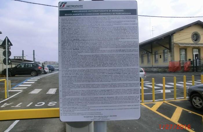 Il regolamento del parcheggio