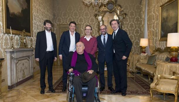 Renzi incontra 4 registi premi Oscar