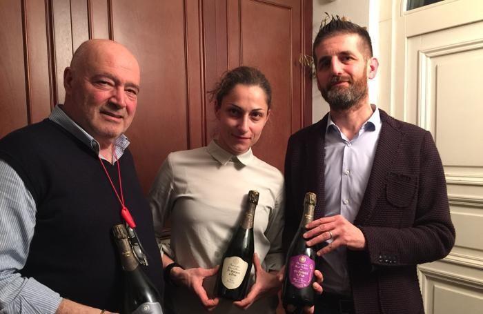 Da sinistra, Bruno Federico con la figlia Antonella e Luca Cornici.