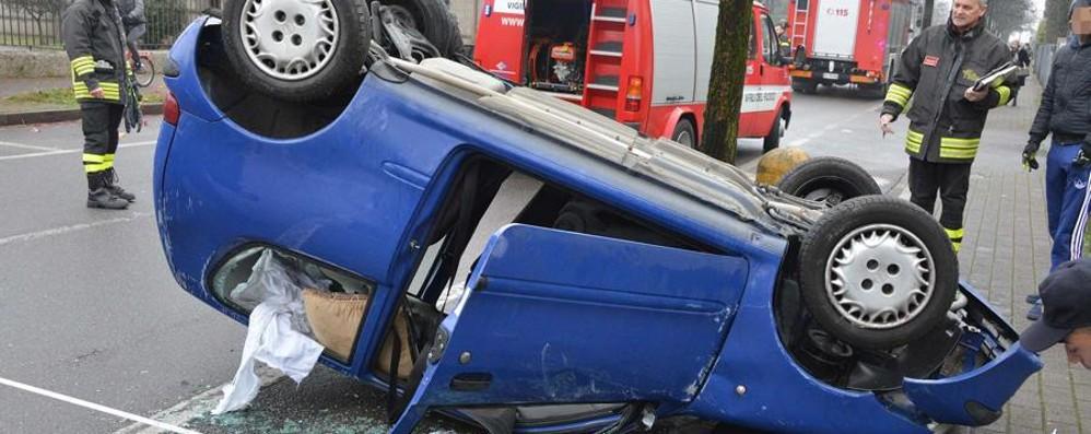 Attenzione al fondo stradale scivoloso Treviglio e Pontirolo, due incidenti