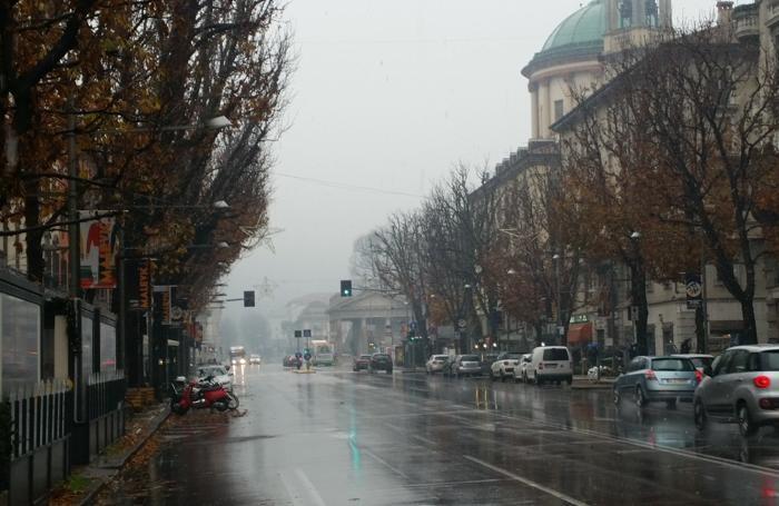 La prima neve del 2016 a Bergamo