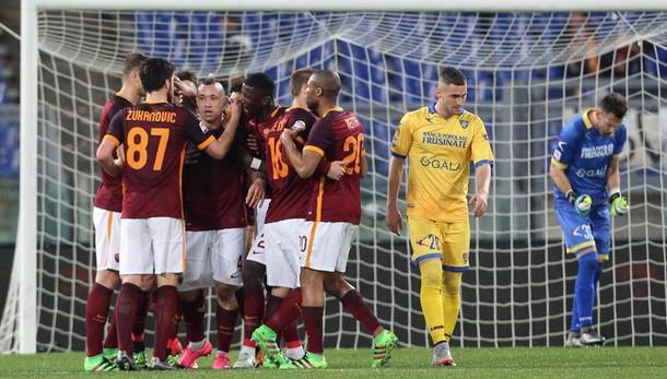 Serie A: Roma batte Frosinone 3-1