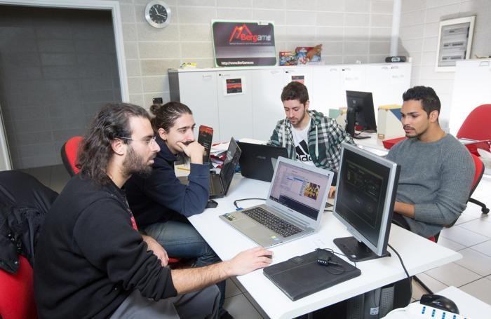 Da sinistra: Francesco Cortesi, Daniele Cavagna, Matteo Gambarara  e Giorgio Olivas Martinez