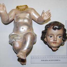 Treviglio, filmati i vandali del presepe Ritrovata la testa di Gesù Bambino