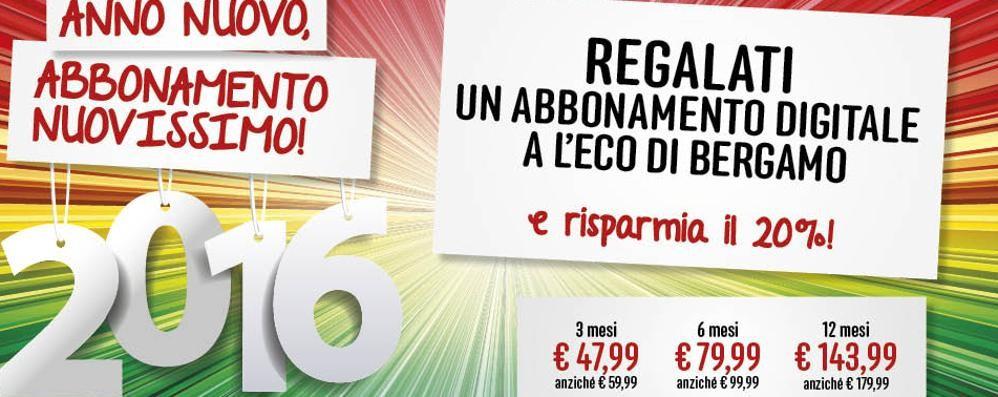 Volete L'Eco di Bergamo digitale? Abbonamento scontato, ultimi giorni