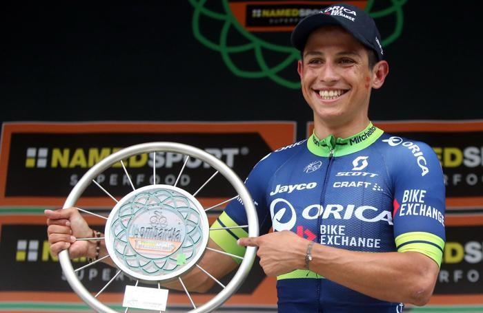 Esteban Chaves sul podio