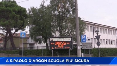 A San Paolo d'Argon scuola più sicura