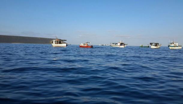 Capo Frasca:protesta pescatori,9° giorno