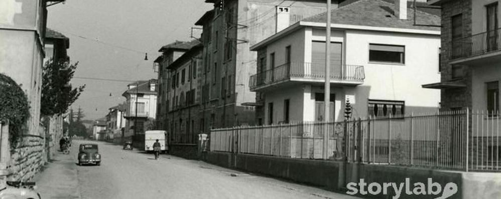 Bergamo, via Carnovali  dal 1954 a oggi Foto di un passato che resiste al tempo