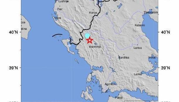 Sisma del 5.2 a nordovest della Grecia