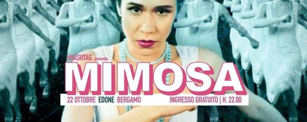 Mimosa in concerto sul palco dell'Edoné