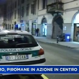 Bergamo, piromane in azione in centro città