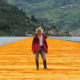Harvard, lago d'Iseo in cattedra Christo racconta «Floating Piers»