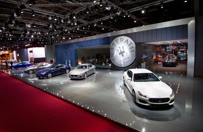 Lo stand della Maserati