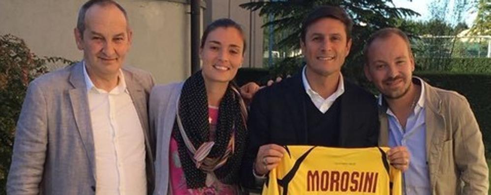 A capitan Zanetti la maglia di Morosini «Un onore, la custodirò con affetto»