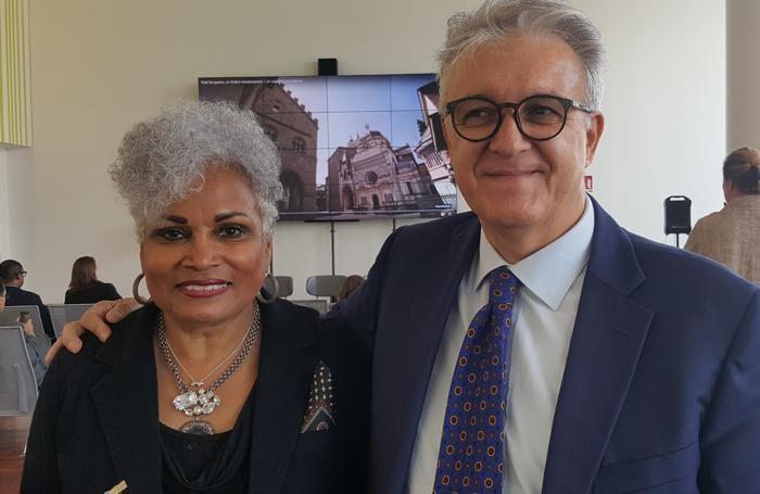 Barbara Bryant Lang con Emilio Bellingardi