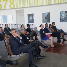 Delegazione dagli Stati Uniti in visita all'aeroporto di Orio