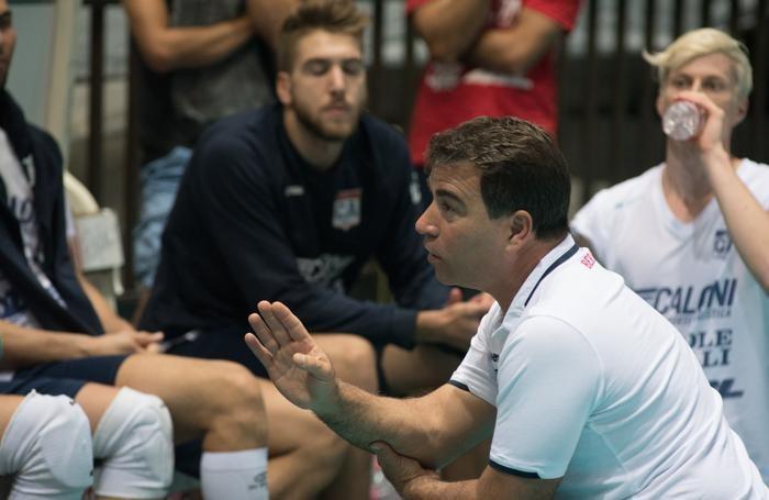 Il coach Gianluca Graziosi