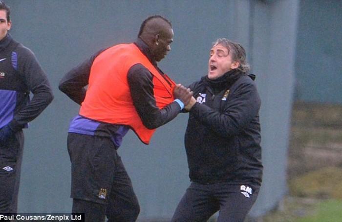 Il litigio tra Balotelli e Mancini al Manchester City