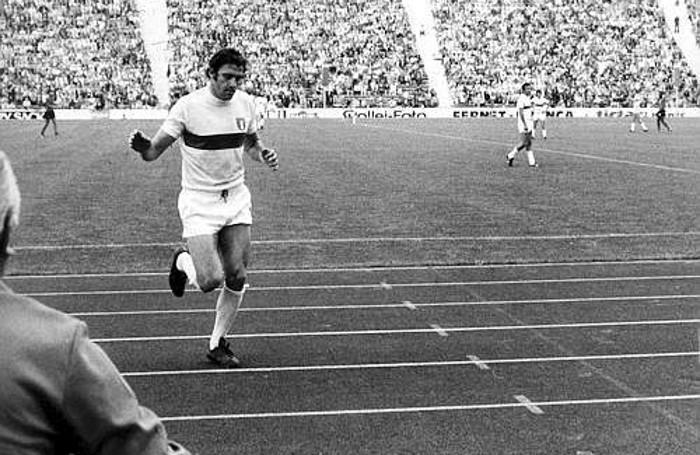Giorgio Chinaglia contro Haiti nel Mondiale 1974