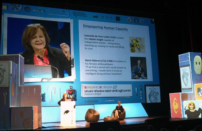 La conferenza di Nadia Magnenat Thalmann
