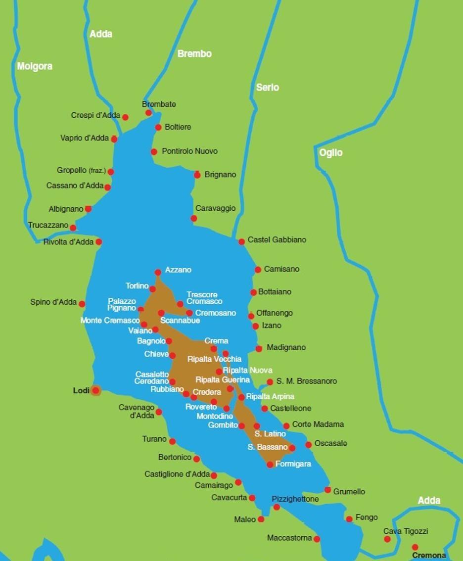 Una mappa di com'era il lago Gerundo