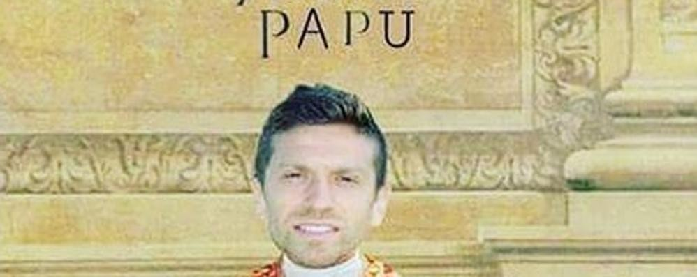 Il Papu strizza l'occhio al cinema Eccolo in versione Sorrentino...