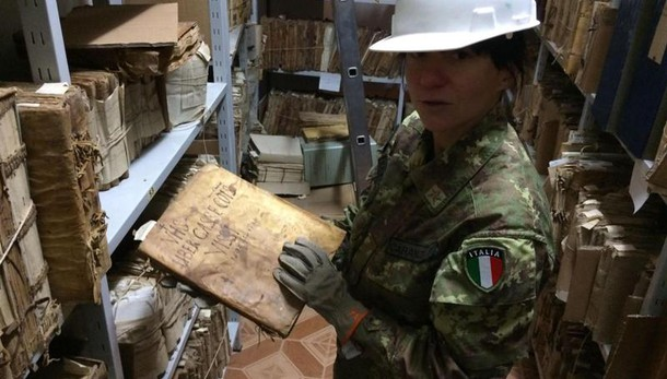 Terremoto, salvo archivio storico Visso