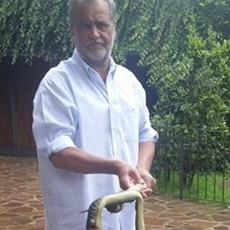Uccise un serpente nella cucina di casa Chiesta l'archiviazione per Calderoli
