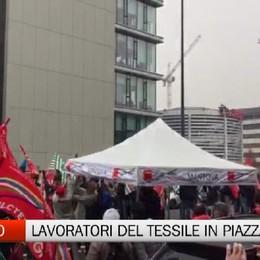 Sciopero del Tessile: centinaia di bergamaschi alla manifestazione di Milano