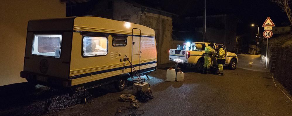 Masso incombe sulle case   Venti sfollati a Corna Imagna