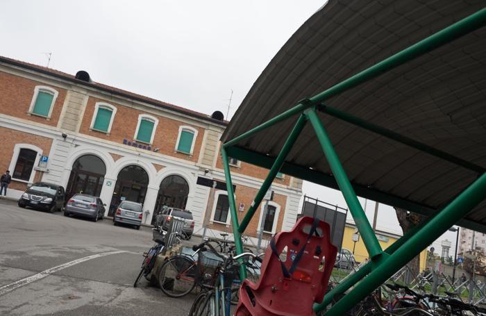 La stazione di Romano di Lombardia