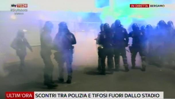 Atalanta-Roma, incidenti dopo partita