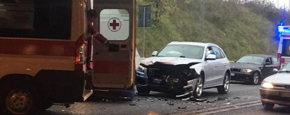 Incidente sulla superstrada a Mapello Tra i feriti anche una bimba di 4 anni