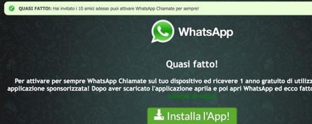 «WhatsApp gratis a vita» La truffa stavolta arriva via mail