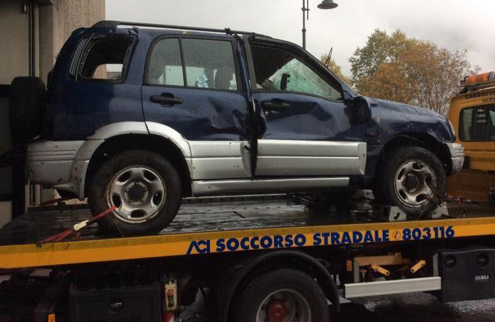 L'auto recuperata