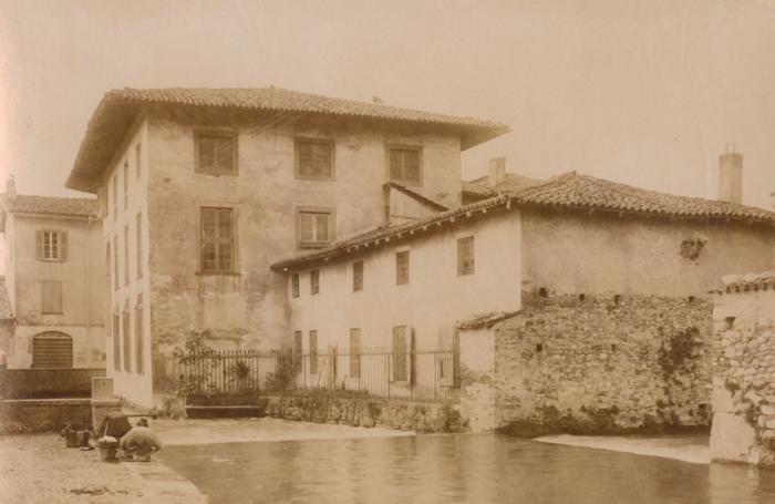 Veduta della Roggia Serio Grande in Santa Caterina. Dal Fondo fotografico della Biblioteca Angelo Mai