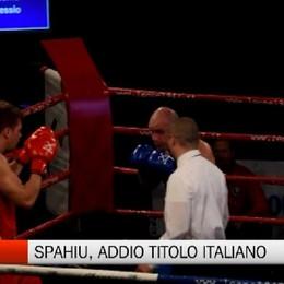 Boxe, addio al titolo italiano per Spahiu