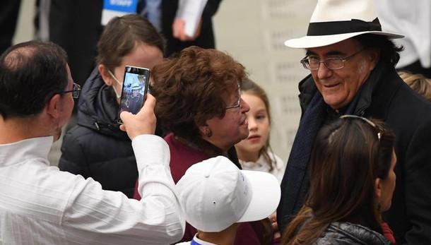 Al Bano, che emozione incontrare il Papa